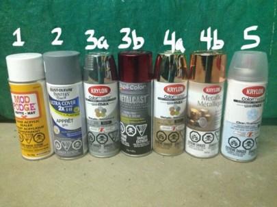 spray paint for DIY